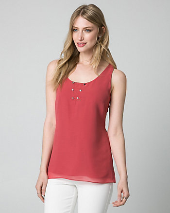 Chiffon Scoop Neck Tank Top