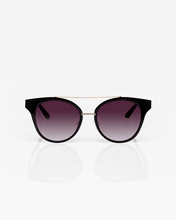 Metal & Plastic Cat Eye Sunglasses