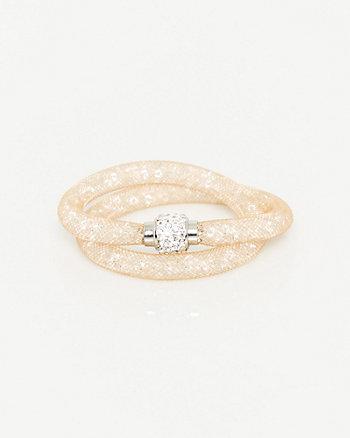 Gem Stone Mesh Bracelet