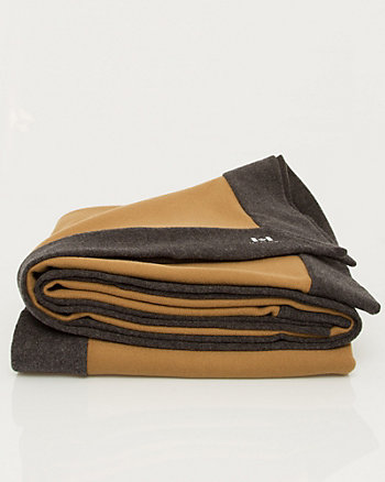 Colour Block Cashmere Blend Throw