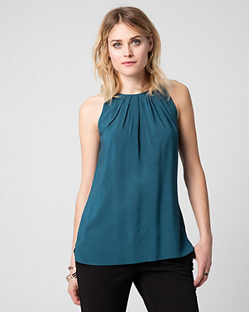 Challis Crew Neck Blouse