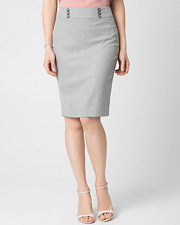 Viscose Blend Midi Skirt