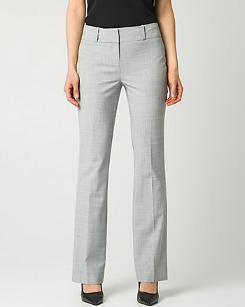 Crosshatch Stretch Viscose Blend Pant