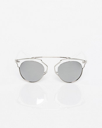 Oversized Metal Sunglasses
