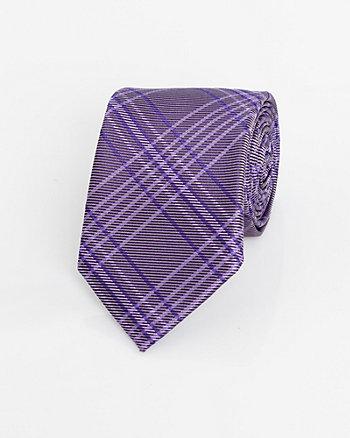 Check Print Knit Tie