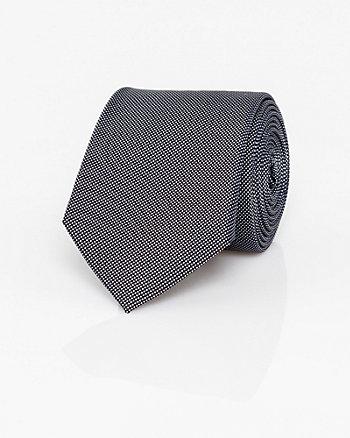 Textured Silk Piqué Skinny Tie