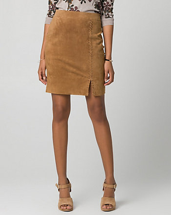 Suede Pencil Skirt