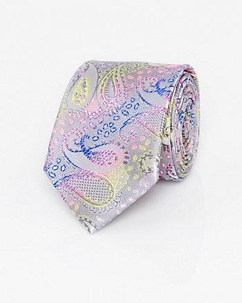 Paisley Print Woven Skinny Tie