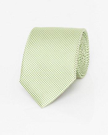Basket Weave Print Woven Tie