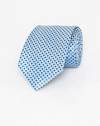 Basket Weave Print Microfibre Skinny Tie