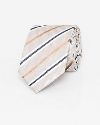 Textured Stripe Silk Skinny Tie