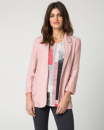 Challis Twill Notch Collar Boyfriend Blazer