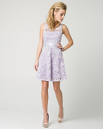 Lace Illusion Party Dress