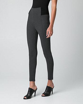 Geo Print Ponte Skinny Leg Crop Pant