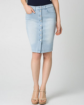 Stretch Denim Mini Skirt