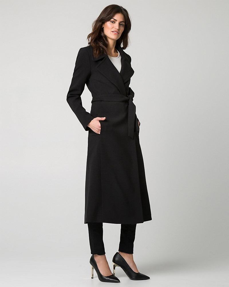19d8c4c0ce2 Double Weave Notch Collar Wrap Coat ...