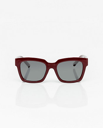 Transparent Rectangular Frame Sunglasses