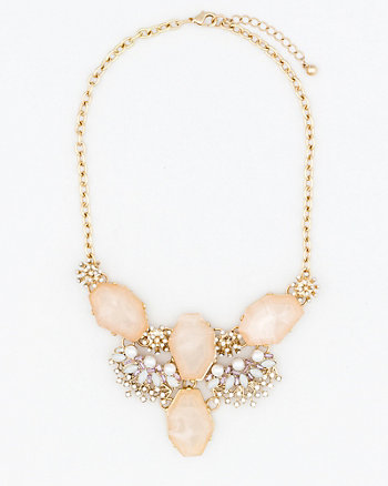 Pearl-Like & Gem Necklace