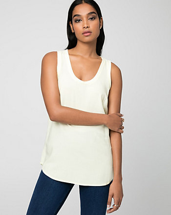 Challis Scoop Neck Blouse