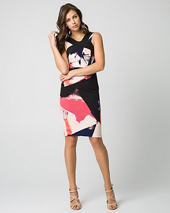 Abstract Print Woven Shift Dress