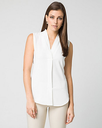 Tricoteen Built-Up Neckline Blouse