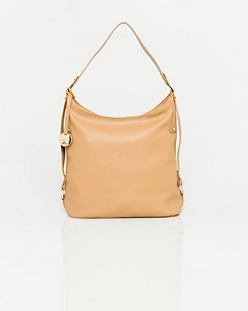 Pebble Leather-Like Hobo Bag