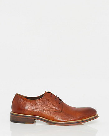 Leather Almond Toe Derby
