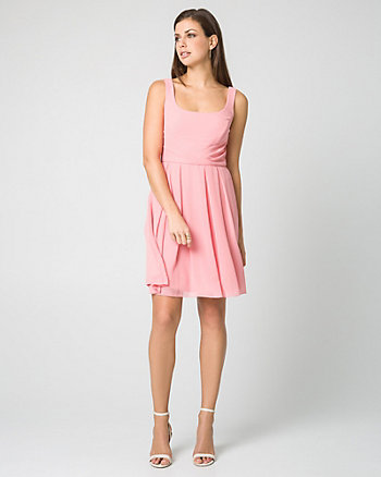 Chiffon Fit & Flare Dress