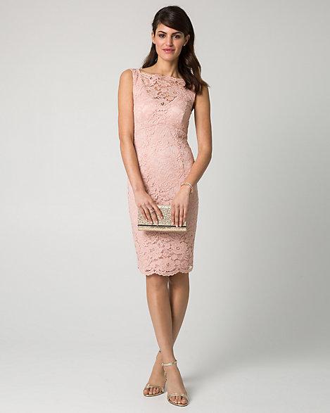 Le chateau pink lace dress