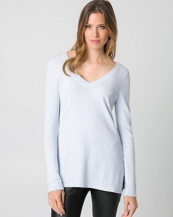 Viscose Blend Criss-Cross Back Sweater
