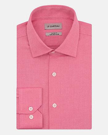 Tonal Piqué Tailored Fit Shirt