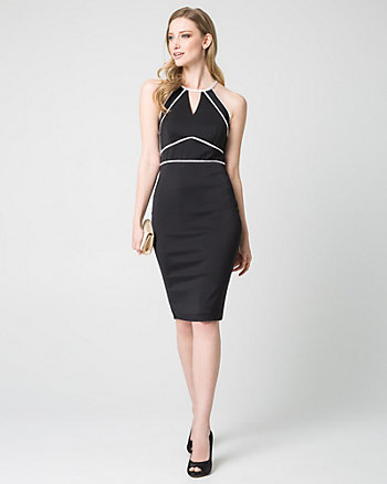 Double Weave Halter Shift Dress