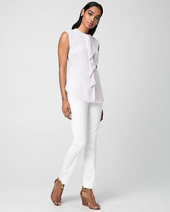 Stripes Chiffon Button-Front Blouse