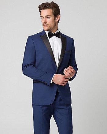Twill Slim Fit Tuxedo Blazer