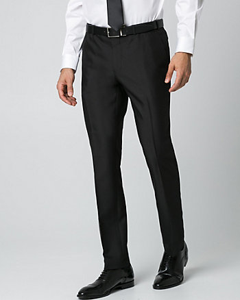 Pantalon à jambe étroite en chevron lustré