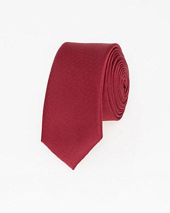 Tonal Microfibre Blend Skinny Tie