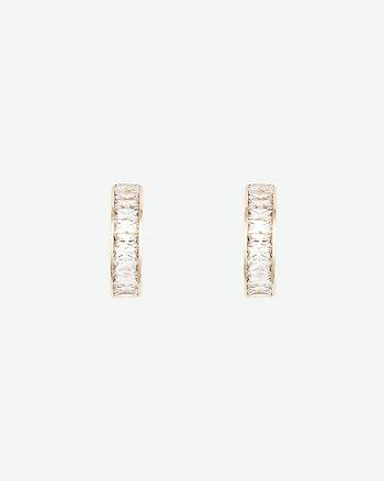 Gem Huggie Earrings
