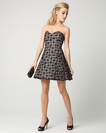 Floral Lace Sweetheart Party Dress