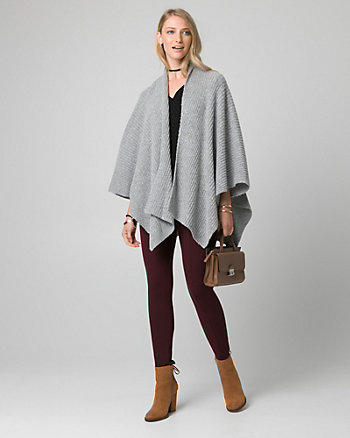 Knit Open-Front Poncho