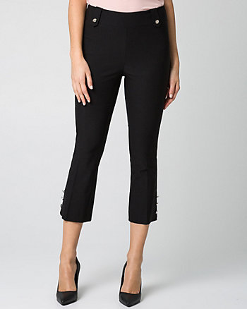 Tech Stretch Kick Flare Leg Crop Pant