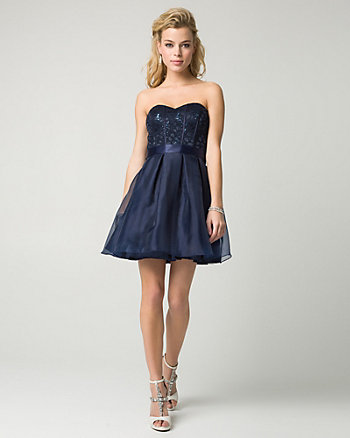 Sequin Lace Sweetheart Party Dress
