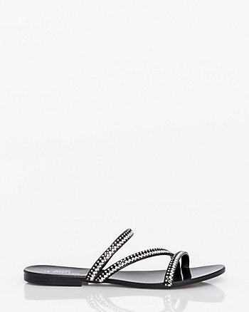 Italian-Made Faux Leather Sandal