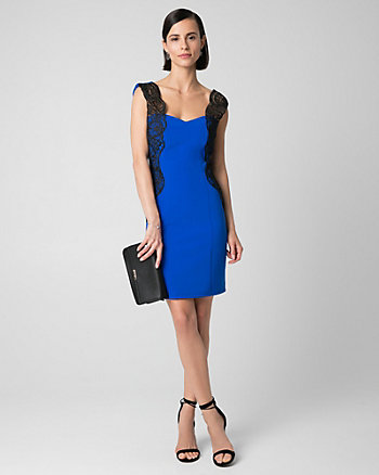 Double Weave Sweetheart Cocktail Dress
