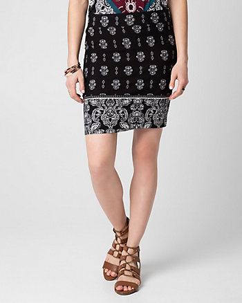 Printed Jersey Mini Skirt
