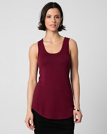 Slub Jersey Scoop Neck Tank Top