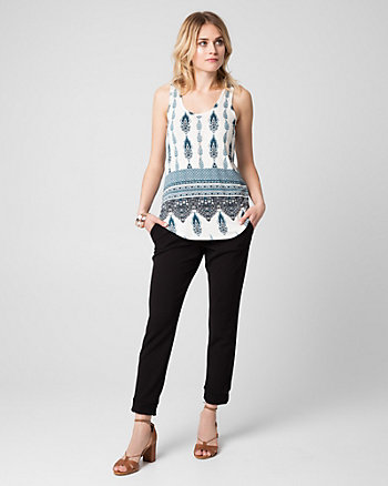 Printed Slub Jersey Scoop Neck Tank