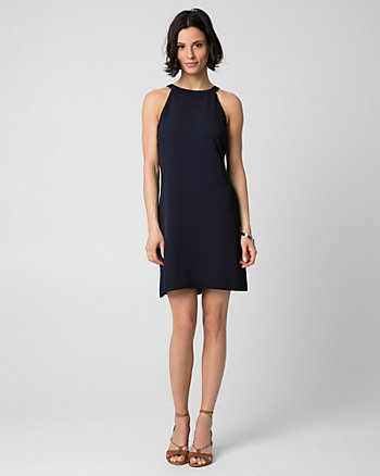 Crêpe Halter Dress