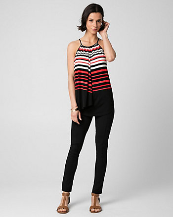 Stripe Jersey Halter Top