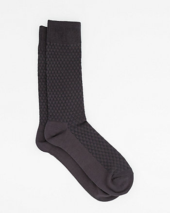 Mini-Triangle Tonal Bamboo Blend Socks