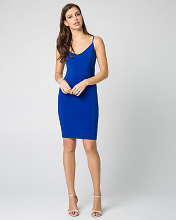 Knit V-Neck Slip Dress
